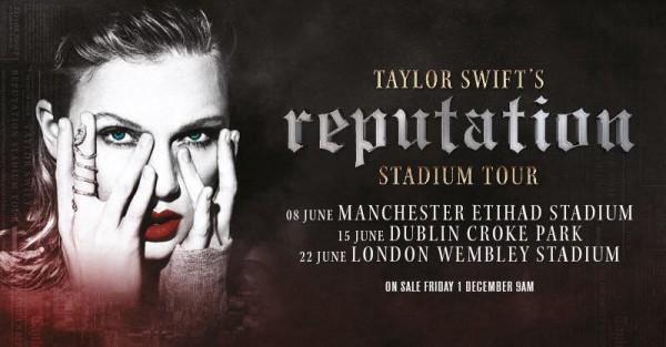 """Prvé dátumy európskej časti """" Reputation Stadium Tour"""""""