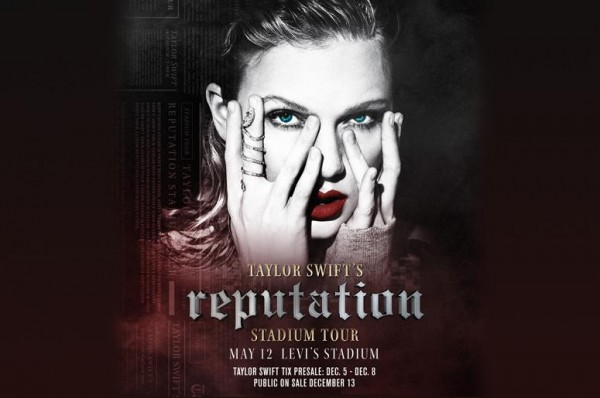 Taylor ohlásila Reputation Stadium Tour